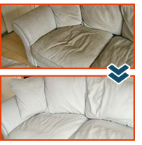 Before & After Upholstery Steam Cleaning